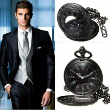 1X Retro Steampunk Roman Display Pocket Watch Necklace Pendant For Men And Women