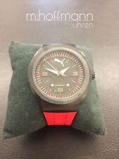 Puma Stylische Herren Uhr schwarz mit rotem Armband  PU103931001   NEU