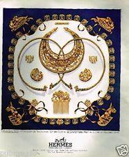 """Publicité advertising 1975 Le Carré Foulard Hermès """"Les cavaliers d'Or"""""""