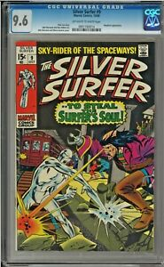 SILVER SURFER #9 CGC 9.6 OW/W PAGES John Buscema Mephisto app