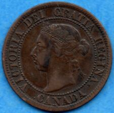Canada 1892 1 Cent One Large Cent Coin - F/VF