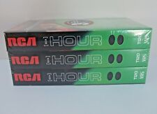RCA VHS Blank Tapes Videocassette T120 Six 6 Hour Three Pack NEW