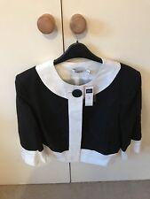 Ladies M&Co Size 16 Black And White Jacket Smart Bnwt