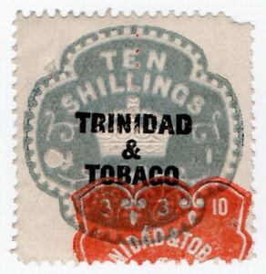 (I.B) Trinidad & Tobago Revenue : Duty Stamp 10/- (die I)