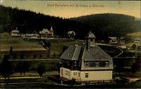 Rehefeld-Zaunhaus Sachsen Altenberg 1912 Dorf Schloss Schule Panorama Wald Tal