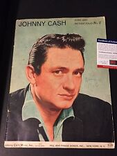 Johnny Cash 1960 Song and Picture Folio No. 2 Magazine Signed Auto PSA/DNA COA