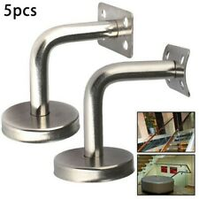 5pcs Stainless Steel Handrail Stair Wall Brackets Support Hand Rail Bannister