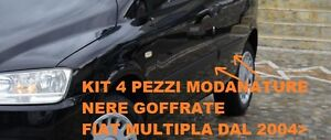 KIT MODANATURE PORTIERE FIAT MULTIPLA 2004> NERE GOFFRATE 4 PEZZI M0141251