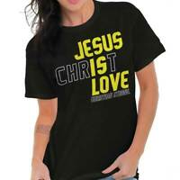 Jesus Christ Is Love Christian Religious God T-Shirts T Shirts Tees For Womens