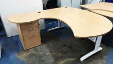 Office computer desk L shape with 3 drawers large 200cm x 180cm x 73cm