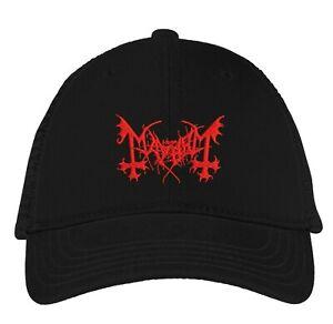 Mayhem cap hook and loop closure hat black metal