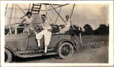1920s Young Women & Man Driving 1927-1929 Ford Model A Touring Car Photo