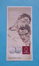 """Folder Flyer zur 20€ Silber Münze 2012 """"Egon Schiele"""" Österreich"""