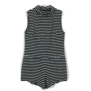 BNWT The Fifth Label Womens Black/White Striped Sleeveless Jumpsuit Size XS