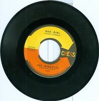 Miracles Bad Girl b/w I Love Your Baby CHESS 45 1959 NM DOO WOP
