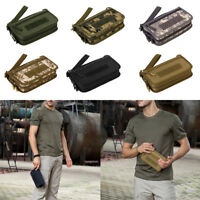 "Military Mens Wallet ID Card Money Key Hand Bag 6"" Cell Phone Pouch"