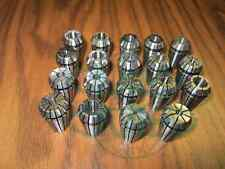 19pcs/set ER16 COLLET SET Complete Sizes including all 16th, 32nds & 64th--New