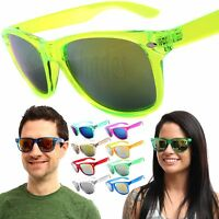 NEON Mens / Womens Retro Vintage Sunglasses Assorted Multi-Color Glasses Shades