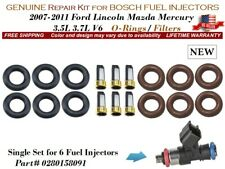 1 Repair Kit NEW for 6 Fuel Injectors OEM BOSCH #0280158091 O-Rings/Filters