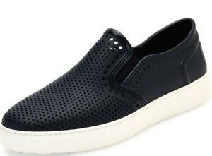 SALVATORE FERRAGAMO Rubber, Waterproof, Navy Sneaker Men's Size 11.5 M MSRP $575