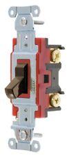 Bryant AC switch single pole (Brown) toggle no.4901-C 10 per box