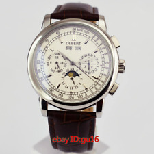 Debert 42mm Stainless steel case Automatic Movement mens White dial watch 2481