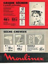 PUBLICITE  1966   MOULINEX  accessoires coiffure