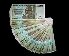 25 x Zimbabwe 500 Thousand(500000) Dollar banknotes-paper money currency