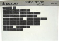 Suzuki GS850 GS850G 1980 1981 Parts Catalog Microfiche s418