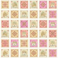 100% Algodón Tela Quilting Treasures Royal Princess Castillos Flores Panel
