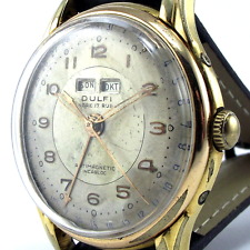 Vintage Dulfi - Triple Calendar - 35MM - 1950's - Manual Wind - Caliber AS 1291