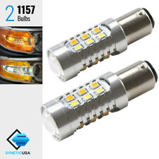 1157 Dual Color Bright Switchback White/Amber Yellow LED Turn Signal Light Bulbs