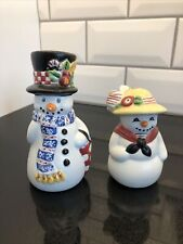 New ListingMary Engelbreit Snowman Salt & Pepper Shakers