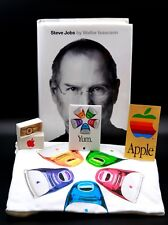  Apple T-shirt Yum + Pin Tutorial + Pin Yum + Sticker + Steve Jobs Biography