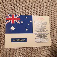 Advance Australia Fair - Vintage Postcard