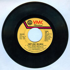 Philippines VILLAGE PEOPLE Can't Stop The Music 45 rpm Record