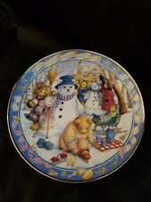 Royal Doulton Teddy Bear Winter Wonderland Limited Edition Plate Numbered