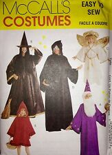 McCalls Sewing Pattern Costume 9496 Angel Witch Wizard Phantom Red Riding Kids