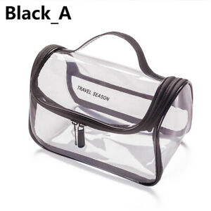 Transparent Travel Bag Set Airport Cosmetic Makeup Toiletry Clear Wash Pouch 1pc