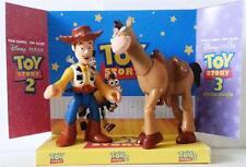 Disney Pixar TOY STORY Action Figure WOODY & BULLSEYE on Custom Display Stand