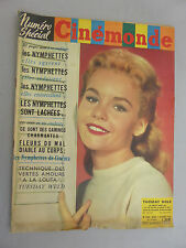 CINEMONDE 1960 LES NYMPHETTES DU CINEMA JULIETTE GRECO REVUE HEBDOMADAIRE