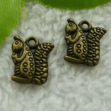 Free Ship 160 pcs bronze plated squirrel charms 16x13mm #2566