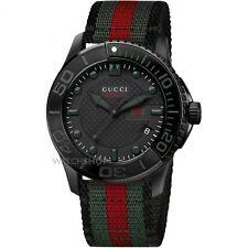 Gucci G-Timeless Sport Black Dial Nylon Strap Men's Watch YA126229 NWT $1050