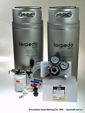 TORPEDO Twin Keg Set Fridge Tap CO2 Regulator homebrew kegging starter kit beer