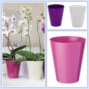 Orchideentopf Rund Übertopf Pflanzentopf Blumentopf Orchidee 5 Farben