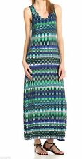 CALVIN KLEIN Knit Jersey Long Maxi Tank Dress Top Atlantis Blue 8 Nwt $99