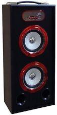 MOBILE BLUETOOTH SOUNDBOX - ROT - LAUTSPRECHER -RADIO FM-AUX-USB-SD-MP3- BOX14