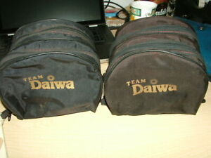 Vintage Daiwa Double Reel Cases. x2. Will hold 4 Reels.