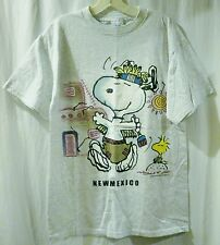 Light Grey Peanuts Snoopy New Mexico T-Shirt Adult Size M