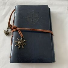 Classic Leather Spiral Journal Notepad Notebook Diary w/Nautical & Anchor